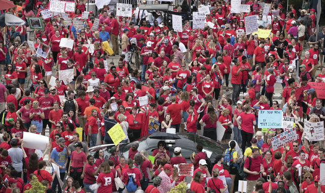 Triad schools close for teacher rally