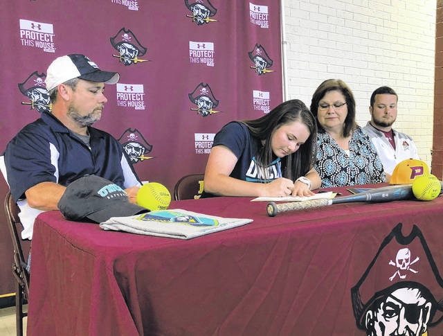 Lumberton's Britt signs letter of intent to play softball at UNCW