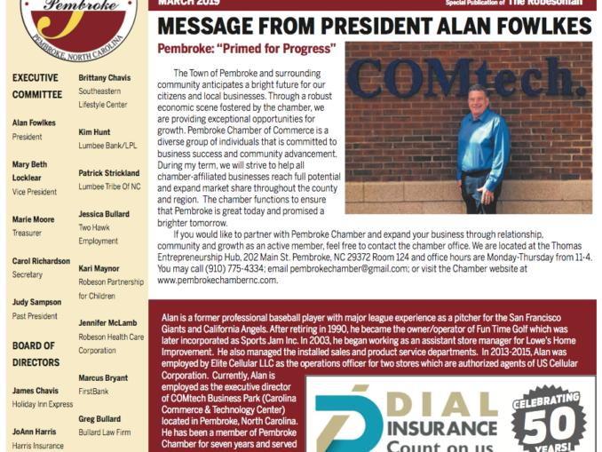 Pembroke Chamber of Commerce March Newsletter