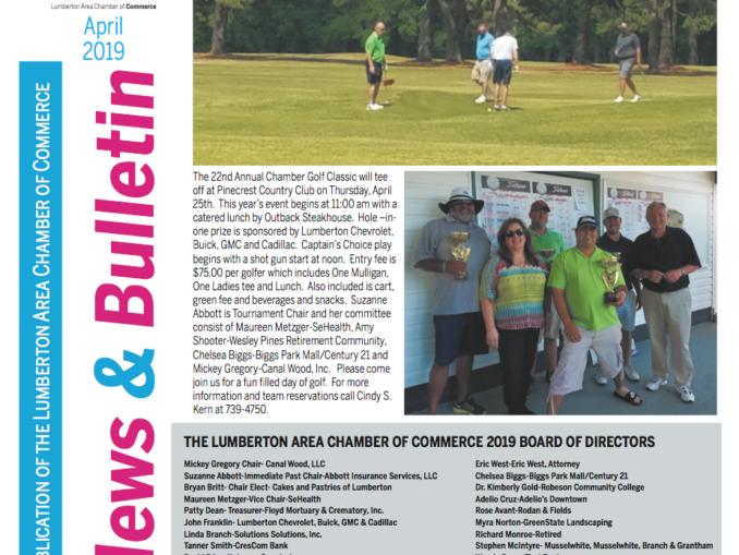 Lumberton Chamber of Commerce Newsletter for April