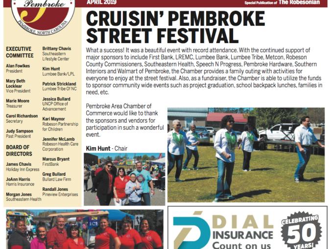 Pembroke Chamber of Commerce Newsletter – April