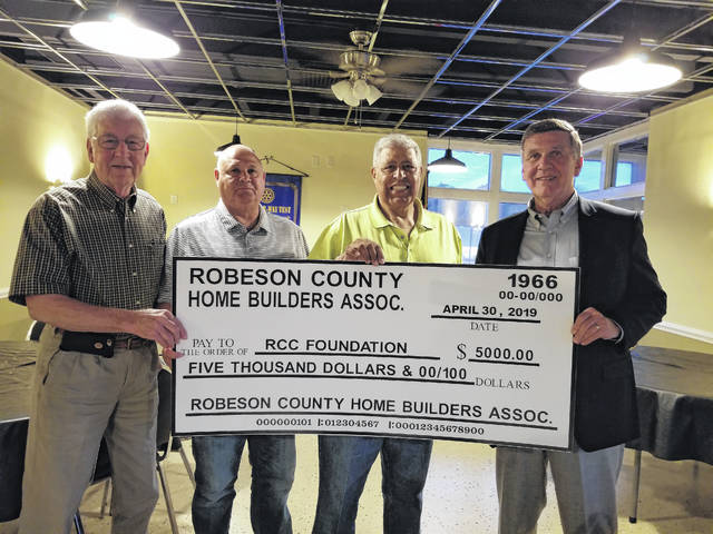 Builders gift $5,000 to RCC
