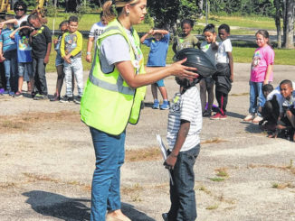 Students get lesson on bike, helmet safety