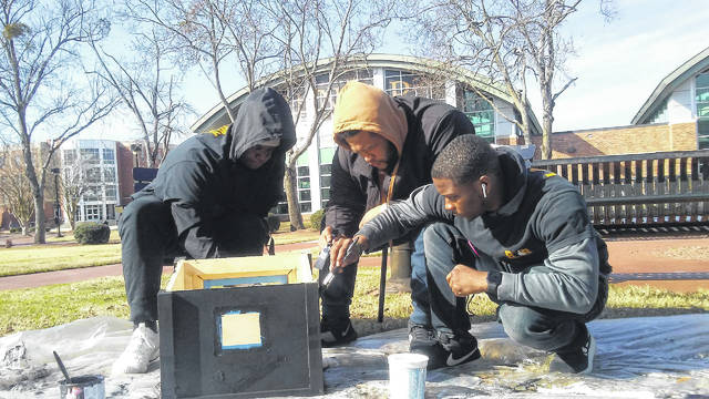 UNCP students serve community by building Little Libraries as tool to increase literacy