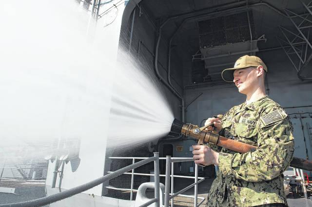 Lumberton man conducts hydrostatic test aboard USS John C. Stennis