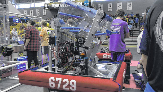 Early College High School team walks away from robotics meet with prestigious award