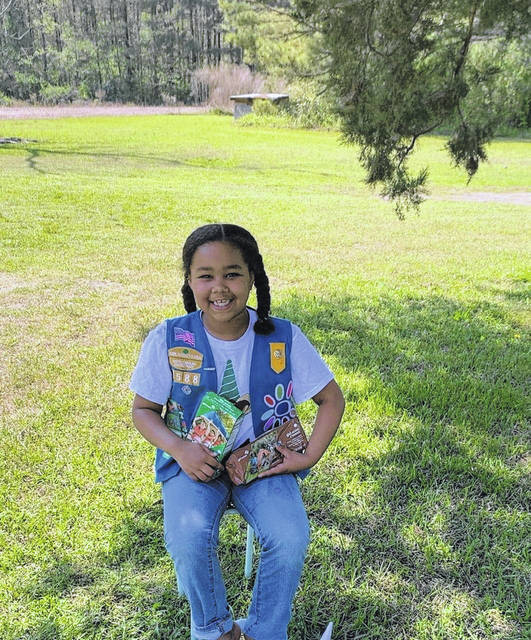 <p>Girl Scout Teagan Hunt, of St. Pauls, placed second in Robeson County in selling cookies during the 2020 Cookie Program. Hunt sold 2,075 boxes.</p>