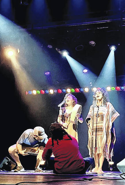 <p>Carolina Civic Center resident artist Kendrix Singletary and sound technician French Floyd work behind the scenes to shoot Lumbee vocalist Alexis Raeana's performance for Spotlight on Local Talent: Quarantine Edition concert.</p>                                  <p>Courtesy photo | Carolina Civic Center</p>