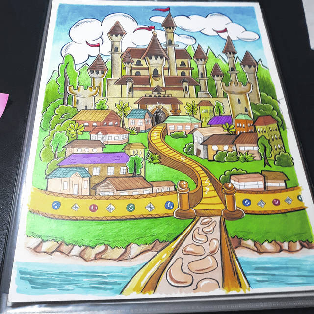 """<p>Kendreek Mitchell, a Rowland artist, recently completed the illustrations for the Bible-inspired book """"The Wise King."""" Shown is the front cover image.</p>"""
