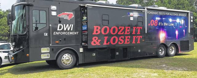 L'unité mobile de test d'alcoolémie aidera les organismes d'application de la loi alors qu'ils cherchent à retirer les conducteurs aux facultés affaiblies des routes ce week-end de vacances.  Photo de courtoisie |  Département des transports de la NC