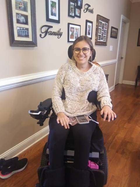 <p>Courtesy photo</p>                                 <p>Brooke Humphrey is all smiles after returning home after four months of treatment for a spinal cord injury. The 23-year-old will begin outpatient neurospinal therapy next week at Cape Fear Valley Rehabilitation.</p>