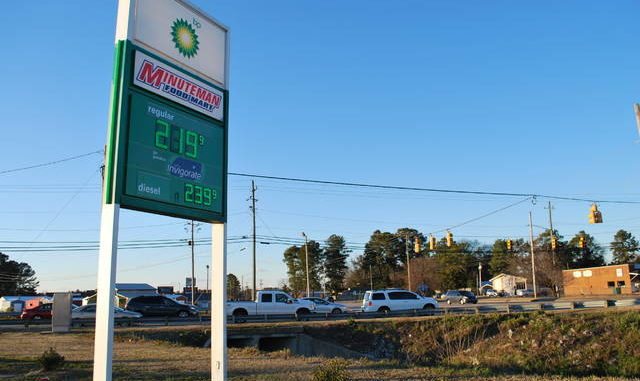 Gas prices have been trending upwards with the rise of crude oil prices. Consumers may continue to see prices at the pump trend upward as factors surrounding the COVID-19 pandemic contribute.                                  Jessica Horne | The Robesonian