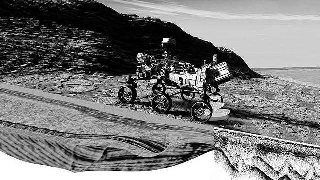 "<p>Shown is Rimfax, a ground-penetrating radar that can ""see"" 200 feet down. Rimfax will help determine the subsurface structure of the rocks and find out if there is ice or liquid water under the rover during the 2020 Mars landing mission.</p>                                  <p>Courtesy image</p>"