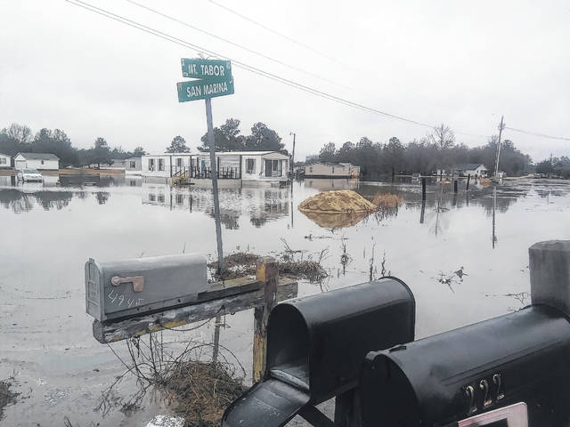 Floodwater spreads across the county during the day; No damages or power outages reported