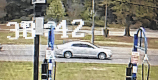 Shown is an image taken from surveillance footage of the vehicle identified as the one from which someone fired into another vehicle on Interstate 95 on Thursday and killed Julie Eberly of Pennsylvania.                                  Courtesy photo | Robeson County Sheriff's Office
