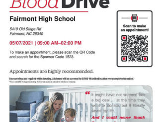 May 7 is the date for the Fairmont High Spring Blood Drive