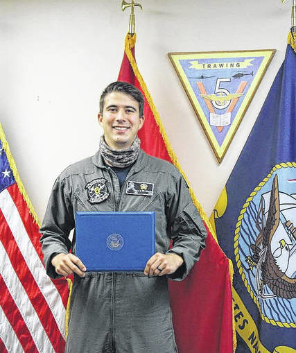 Man with Lumberton ties graduates with honors from Navy primary aviation Training