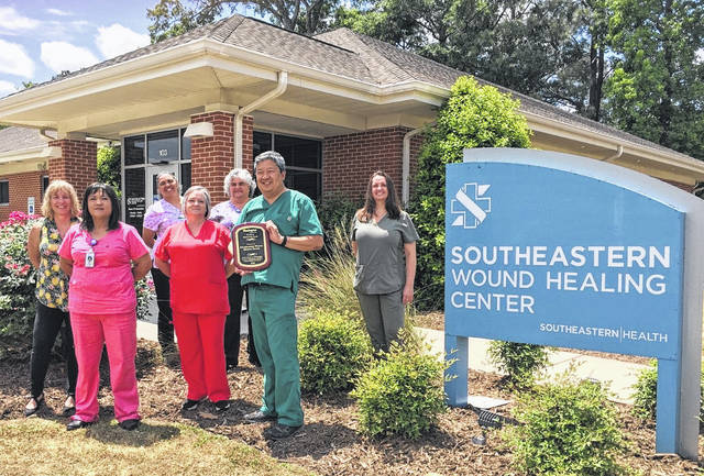 Southeastern Wound Healing Center recognized for clinical excellence in patient satisfaction and wound healing rates