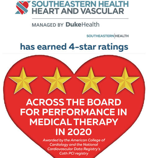 UNC Health Southeastern's heart center receives 4-star ratings for services