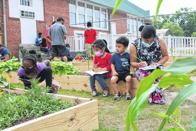 Children learn about plants and more at PSRC's Migrant Education Community Teaching Garden