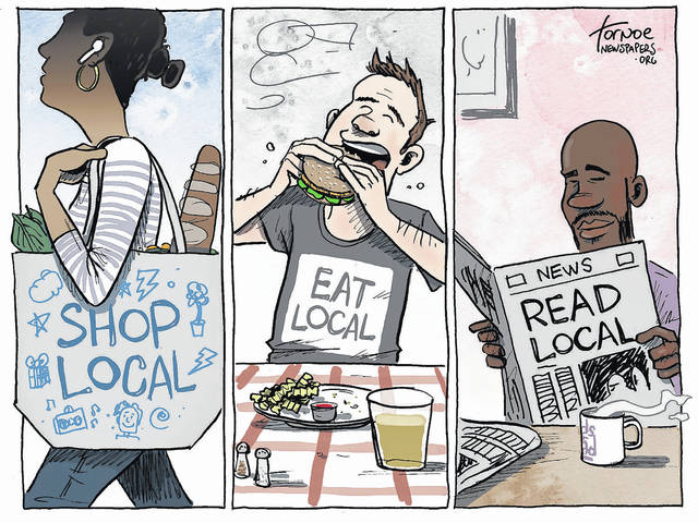 Supporting local means supporting local newspapers