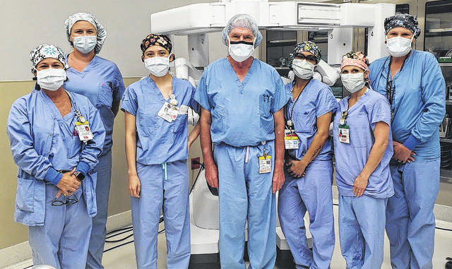 Shown is UNC Health Southeastern's Surgical Services Robotic Team, which now is performing procedures using the health care system's newly upgraded da Vinci Xi Surgical System.                                  Courtesy photo   UNC Health Southeastern