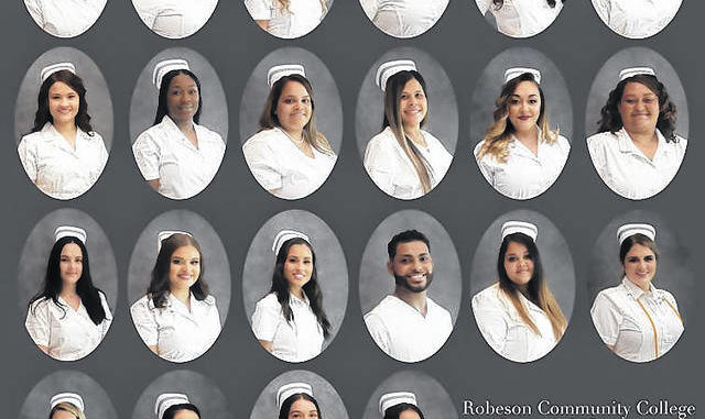 Robeson Community College recently held a pinning ceremony for the 22 graduates of the college's Practical Nursing program.                                  Courtesy image | RCC