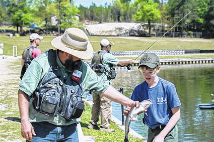 A fishing merit badge clinic for Boy Scouts are among the classes scheduled in August at the the N.C. Wildlife Resources Commission's Pechmann Fishing Education Center in Fayetteville.                                  Courtesy photo | NCWRC